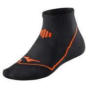 Mizuno DRYLITE COMFORT MID Носки беговые Черный/Оранжевый