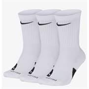 Nike ELITE CREW Носки баскетбольные 3 пары Белый/Черный