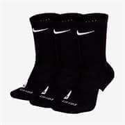 Nike ELITE CREW Носки баскетбольные 3 пары Черный/Белый