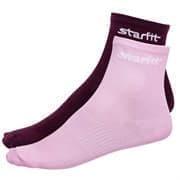 Starfit SW-206 Носки беговые (2 пары) Бордовый/Розовый