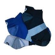 Asics 3PPK LYTE SOCK Носки беговые низкие (3 пары) Серый/Темно-синий