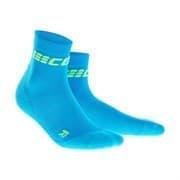 CEP C2UW ULTRALIGHT Носки беговые высокие женские Голубой/Салатовый