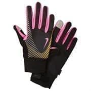 Nike WOMEN'S ELITE STORM FIT TECH RUN GLOVES Перчатки беговые Черный/Розовый/Оранжевый