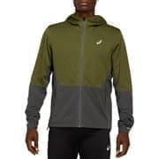 Asics WINTER ACCELERATE JACKET Куртка беговая утепленная муж бег Зеленый/Серый