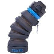 Starfit FB-100 Бутылка для воды с карабином складная Серый