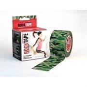 RockTape DESIGN 5смх5м камуфляж зелёный Кинезиотейп Зеленый/Серый