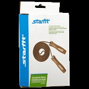 Starfit RP-201 Скакалка кожаная с деревянной ручкой