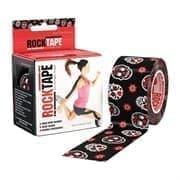 RockTape DESIGN 5смх5м черный с цветными черепами Кинезиотейп Черный/Красный/Оранжевый
