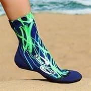 Vincere SAND SOCKS GREEN LIGHTNING Носки для пляжного волейбола Синий/Зеленый