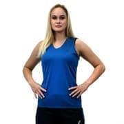 Asics SS TEE INDOOR (W) Футболка игровая волейбольная женская Синий