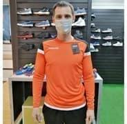 Macron TITAN Футболка с длинным рукавом Оранжевый