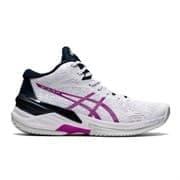 Asics SKY ELITE FF MT (W) Кроссовки волейбольные женские Белый/Розовый
