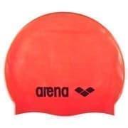 Arena CLASSIC SILICONE Шапочка для плавания Красный/Черный