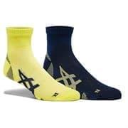 Asics 2PPK CUSHIONING SOCK Носки беговые (2 пары) Желтый/Темно-синий