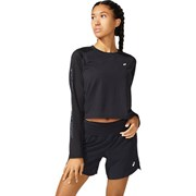Asics RUN LS TOP (W) Футболка беговая с длинным рукавом женская Черный/Серый