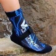Vincere GRIP SOCKS STRAPPED BLUE LIGHTNING Носки для пляжного волейбола (Липкий лого) Черный/Синий