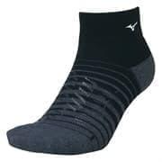 Mizuno SONIC SHORT SOCKS Носки низкие Черный/Серый
