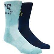 Asics 2PPK KATAKANA SOCK Носки беговые (2 пары) Темно-синий/Голубой