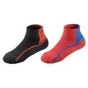 Mizuno ACTIVE TRAINING MID 2P Носки беговые Темно-серый/Красный/Голубой