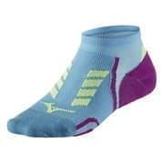 Mizuno DRYLITE RACE LOW Носки беговые низкие Голубой/Фиолетовый