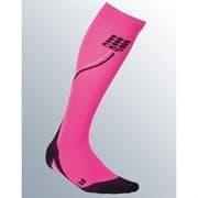CEP C1NW Гольфы беговые со светоотражателями женские Розовый/Черный
