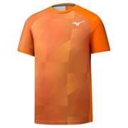 Mizuno GRAPHIC SHADOW TEE Футболка беговая Оранжевый
