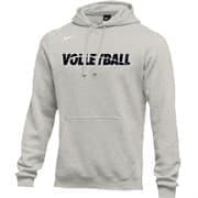 Nike MEN'S VOLLEYBALL CLUB FLEECE HOODIE Толстовка с капюшоном Серый/Черный
