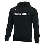 Nike MEN'S VOLLEYBALL CLUB FLEECE HOODIE Толстовка с капюшоном Черный/Белый