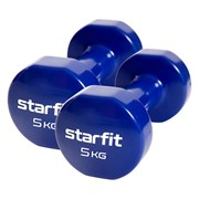 Starfit CORE DB-101 5 КГ Гантель виниловая (пара)