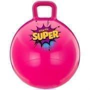 Starfit GB-0401 SUPER 45СМ, 500Г Мяч-попрыгун с ручкой антивзрыв Розовый
