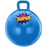 Starfit GB-0401 SUPER 45СМ, 500Г Мяч-попрыгун с ручкой антивзрыв Голубой