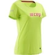 CEP CB81W Футболка беговая женская Салатовый/Розовый