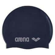 Arena CLASSIC SILICONE JR Шапочка для плавания Темно-синий/Серебристый