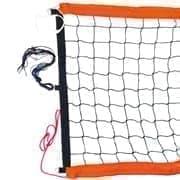 RUSBRAND FS-PV-№11 Сетка для пляжного волейбола профессиональная Черный/Оранжевый