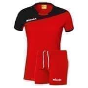 Mikasa MOACH Форма волейбольная женская Красный/Черный