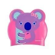 Speedo PRINTED CHARACTER KOALA JR Шапочка для плавания детская Розовый/Лиловый