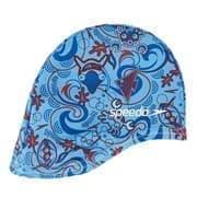 Speedo SEA SQUAD POLYESTER CAP JR Шапочка для плавания детская Синий/Красный