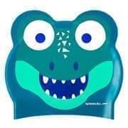 Speedo PRINTED CHARACTER CROC JR Шапочка для плавания детская Синий/Зеленый