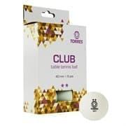 Torres CLUB 2* (TT21014) Мячи для настольного тенниса (6 шт)