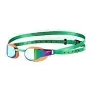 Speedo FASTSKIN ELITE Очки для плавания Зеленый/Оранжевый/Зеркальный