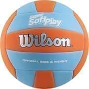 Wilson SUPER SOFT PLAY Мяч волейбольный Голубой/Оранжевый