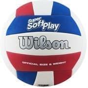 Wilson SUPER SOFT PLAY Мяч волейбольный Белый/Синий/Красный