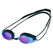 Arena TRACKS MIRROR Очки для плавания Черный/Голубой/Зеркальный