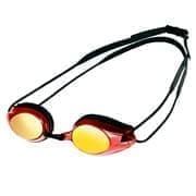 Arena TRACKS MIRROR Очки для плавания Черный/Красный/Зеркальный