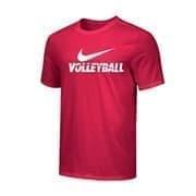 Nike MEN'S VOLLEYBALL TEE Футболка волейбольная Красный