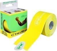 SFM 5 см Х 500 см Лейкопластырь кинезио тейп с логотипом желтый