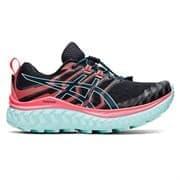 Asics TRABUCO MAX (W) Кроссовки беговые женские Черный/Розовый/Голубой