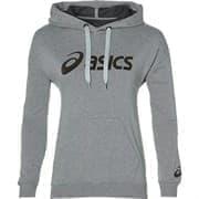 Asics BIG ASICS OTH HOODIE (W) Толстовка беговая женская Серый/Черный