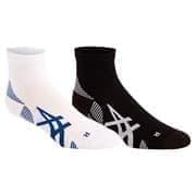 Asics 2PPK CUSHIONING SOCK Носки беговые (2 пары) Белый/Синий/Черный/Белый