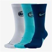 Nike Everyday Crew Носки баскетбольные (3 пары) Белый/Голубой/Синий